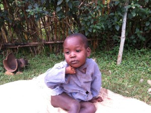 Little one with malaria