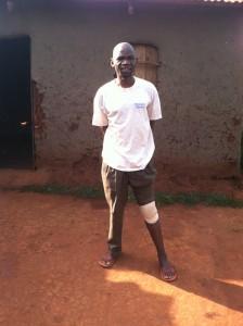 Pius, with knee injury
